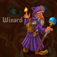 Wizard (char for RPG/Roguelike Dragon's Dungeon) by Vadich