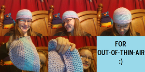 Crocheted beanie for a bff:D by delanygingerprice1