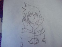 Sasuke Uchiha (Sketched Version) by EzmeAG98