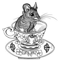 Mouse in Teacup by DawnUnicorn