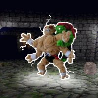 Blanka vs. Goro by fuzzyfigureguy