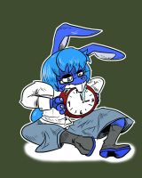 A rabbit and her timewatch by ElementBrigade