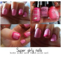 Princess nails (girly nails) with accents by dysphoriah
