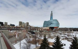 Downtown Winnipeg 3 Picture Panorama by Joe-Lynn-Design