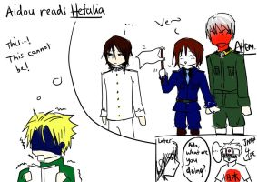 Hanabusa Aidou reads Hetalia by lillylolly164