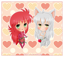 .Comm - Kurama and Youko. by lNeko-Hime