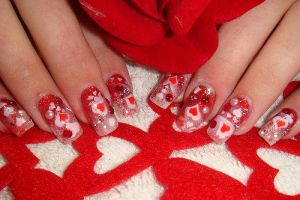 Nail art Valentine by marieclaire1990