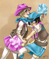 cotton candy cowgirls by Jesscookie