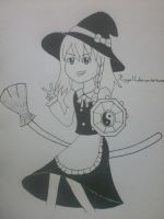 [Touhou Project] Kirisame Marisa! (Inktober Day 8) by Riggell