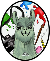 Llama of Many Talents by RaeyenIrael-Stock