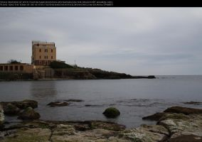 Castle by the Sea Stock by GothicNarcissusStock