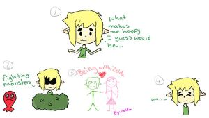 What makes link happy. by shaggydogstorm5