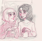 Date at a Coffeeshop by maybelletea