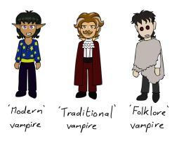 Vampire types comparison by PuddingValkyrie