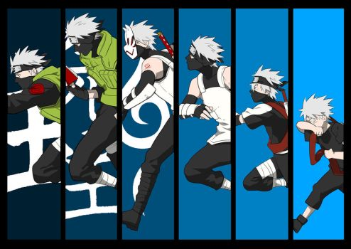The Life of Kakashi Hatake: Naruto Vector by animereviewguy