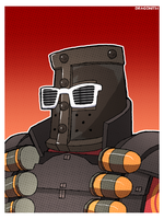 TF2 - Demoknight Bust Shot by Dragonith