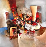 Jazzy abstract painting by Amytea