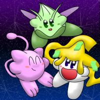 Legendary Kirbys by littlemisskirby