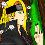 Deidara Colored by ToxicKhroeger