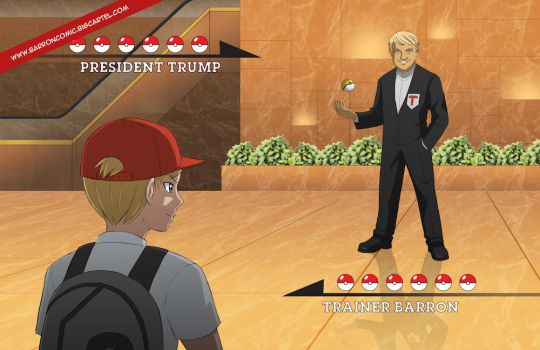 President Trump VS Trainer Barron by joy-ling