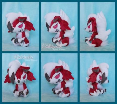 Pokedoll Custom Doll Lycanroc Midnight by Chibi-pets