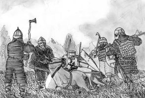Battle of Saule 1236 Death of Meister Volkwin by FritzVicari