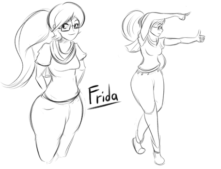 Frida [Concept Sketch] by lucy-fuchs