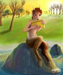 Faun with panflute by J-Zegarra
