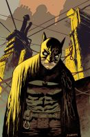 Batman Paul Popeish color by JHarren