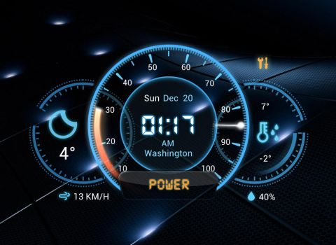 Futuristic Car Dashboard Widget for xwidget by Jimking