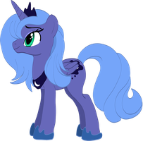 Princess Luna attempt by Ghostwalker2061