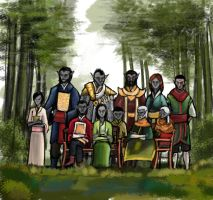 The Elder Scrolls. Family portrait of dunmers. by VorinEpo