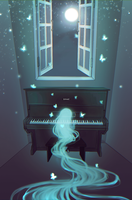 Ghost and her piano by IrinaEihwaz