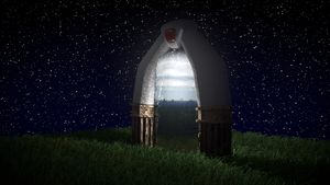 3D Spyro Portal at night by PyroDragoness