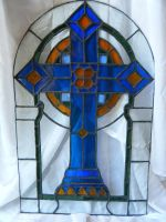 Antique German Glass Cross by TheBloodMaiden