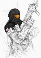 ODST crappy sketch colored by MRHANKY2000