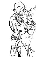 A Druid and her Ranger by TeeSquar3