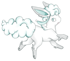 Fakemon: Cloudeon by FilthyLandlubber