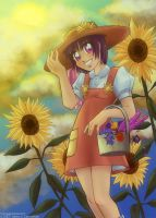 Milli With Sunflowers by MPsai