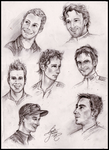 Cyclists -sketches- by Leeuwtje
