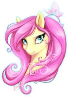 Fluttershy bust by stefi-heartlilly