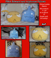 FMA Pillows by Snuckledrops