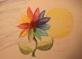 Rainbow Flower by Lizbeth-Lund