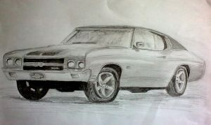 Muscle Car in Pencil by GreenDragon42