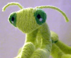 Needle Felted Praying Mantis by maddfelter