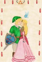 Link and Zelda by owlvadar