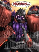 BW Megatron Botcon Print by wordmongerer