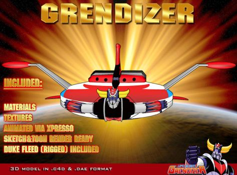 Grendizer and spacer 3D model by staiff
