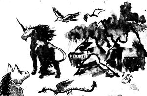 Ink Studies part 2 by Baramin-Fatalis