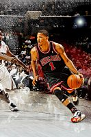 Derrick Rose by rhurst